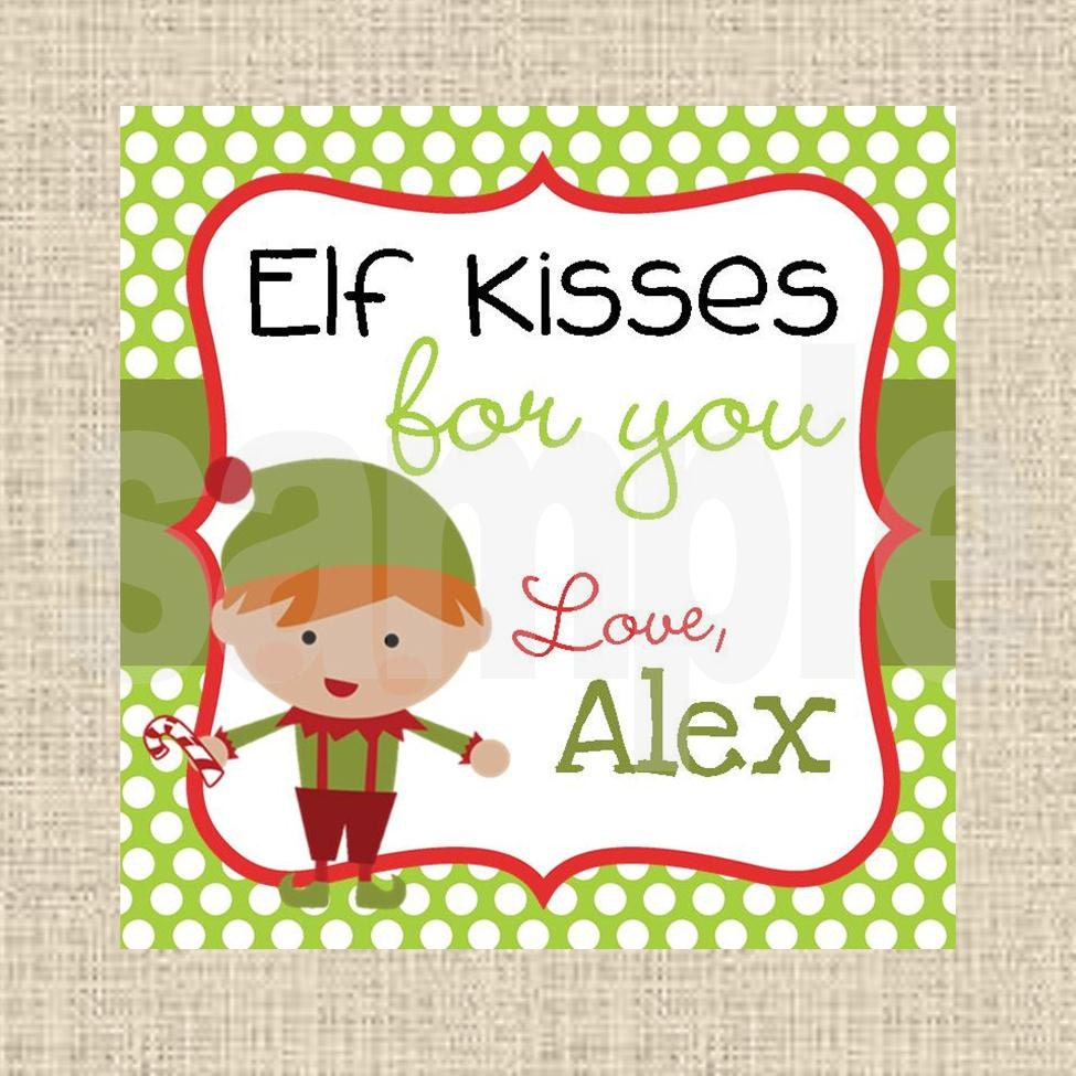Elf Kisses Printable Tags | Search Results | Calendar 2015