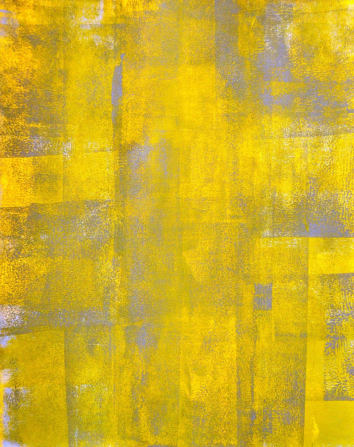 Acrylic Abstract Art Painting Grey Yellow And White By