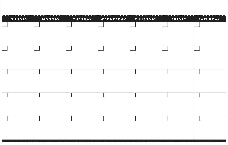 Cute Blank Calendar Template – Imvcorp