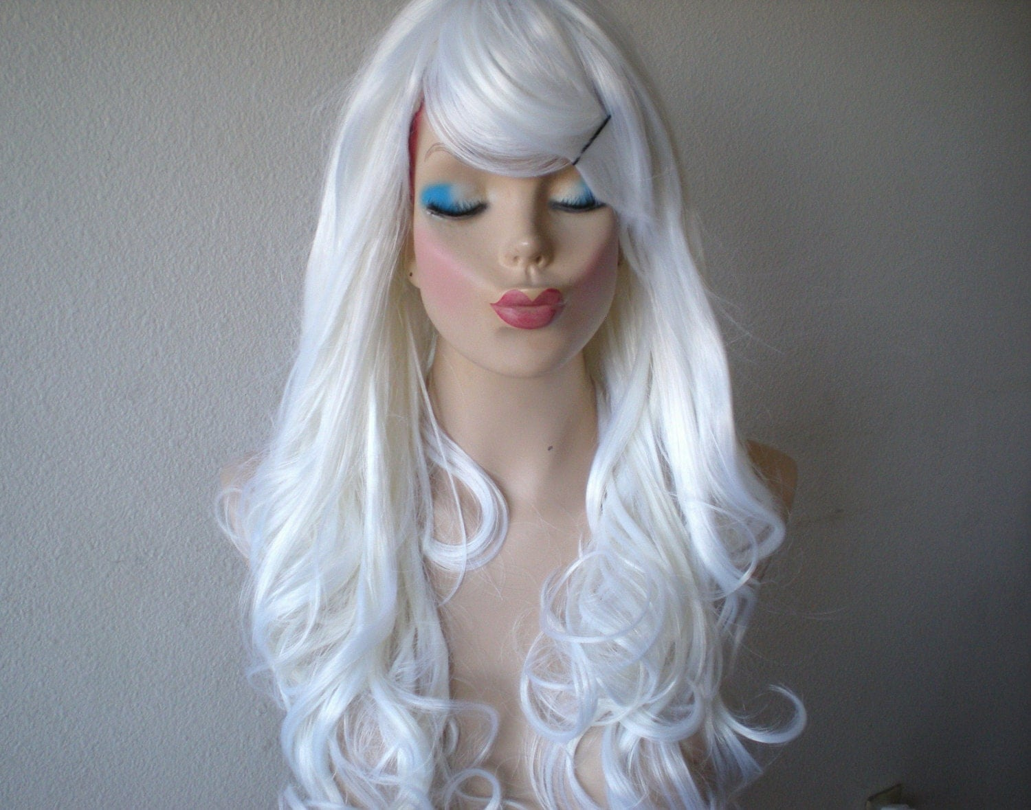 Halloween Special Snow White Color Wig Long Curly By