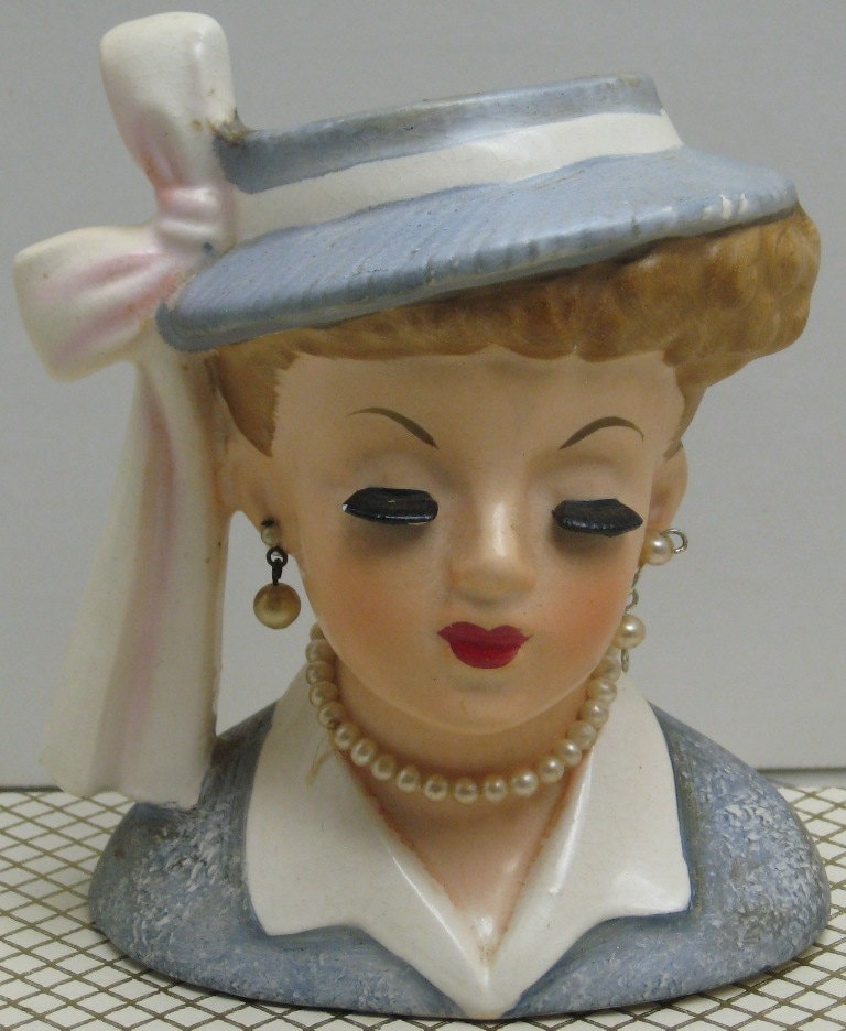 1958 Head Vase By Napco 1958 C3342c By Fleurdelis123 On Etsy