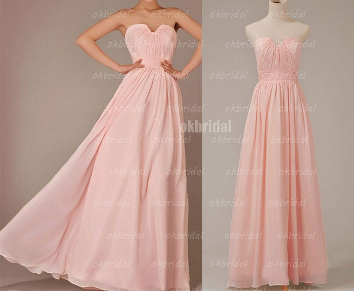 pink bridesmaid dresses, chiffon bridesmaid dress, cheap bridesmaid dress, bridesmaid dress, wedding party dress, RE131