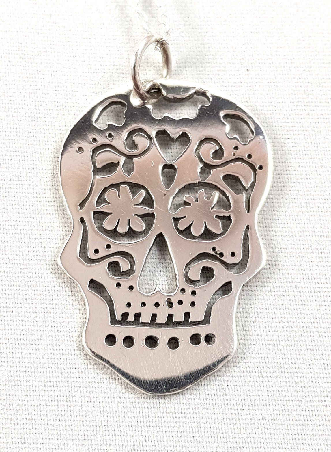925 Stirling Silver Day Of The Dead Pendant