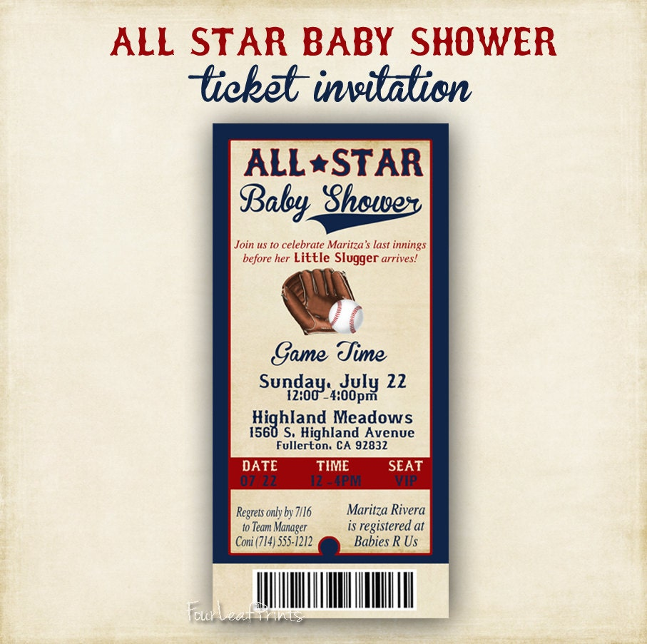 All Star Baby Shower Invitations is one of our best ideas you might choose for invitation design
