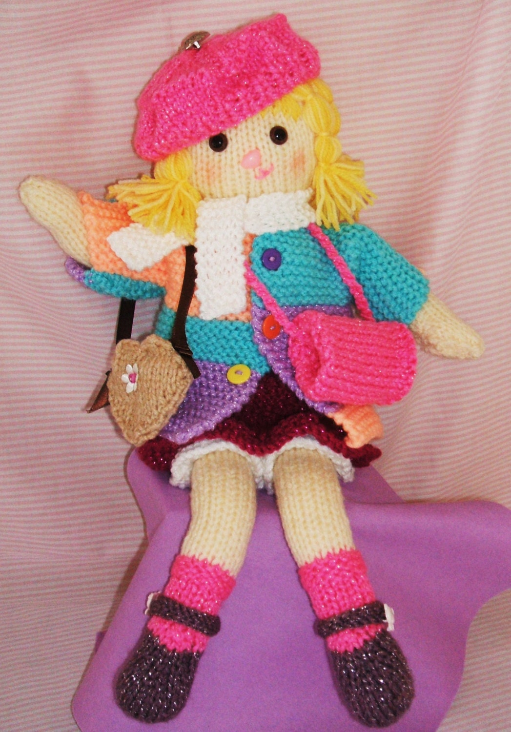 SALE! Dress Up Dolly knitting pattern