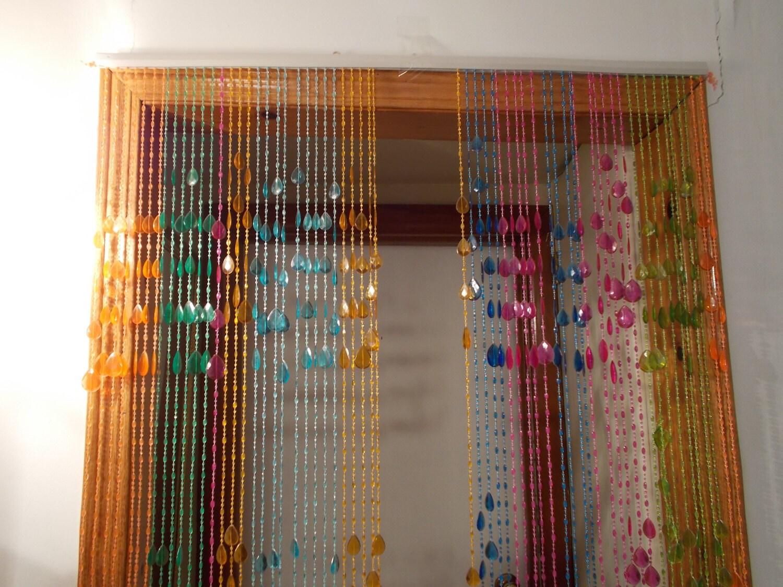 Beaded curtains hippie