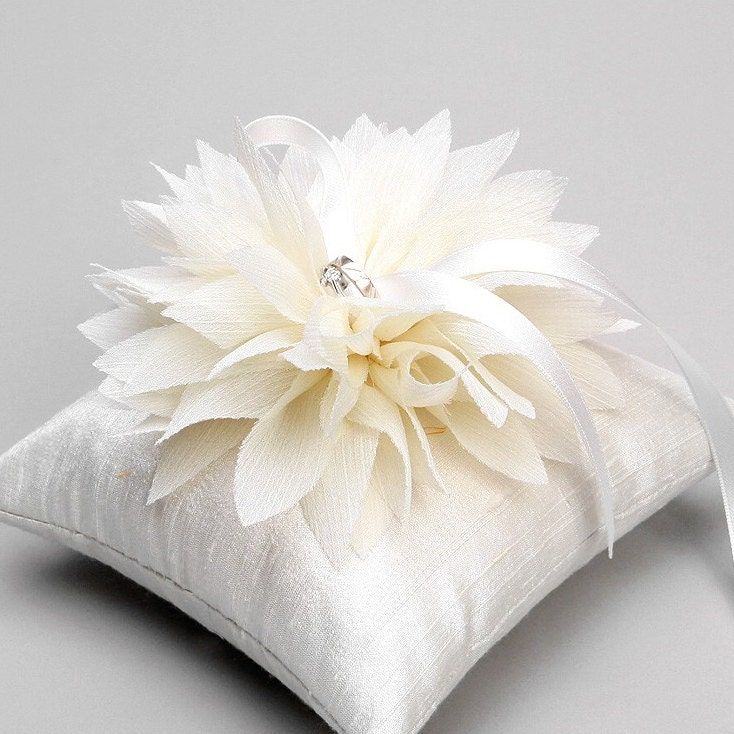 Wedding Ring Pillow Bridal Ring Pillow Flower Ring By