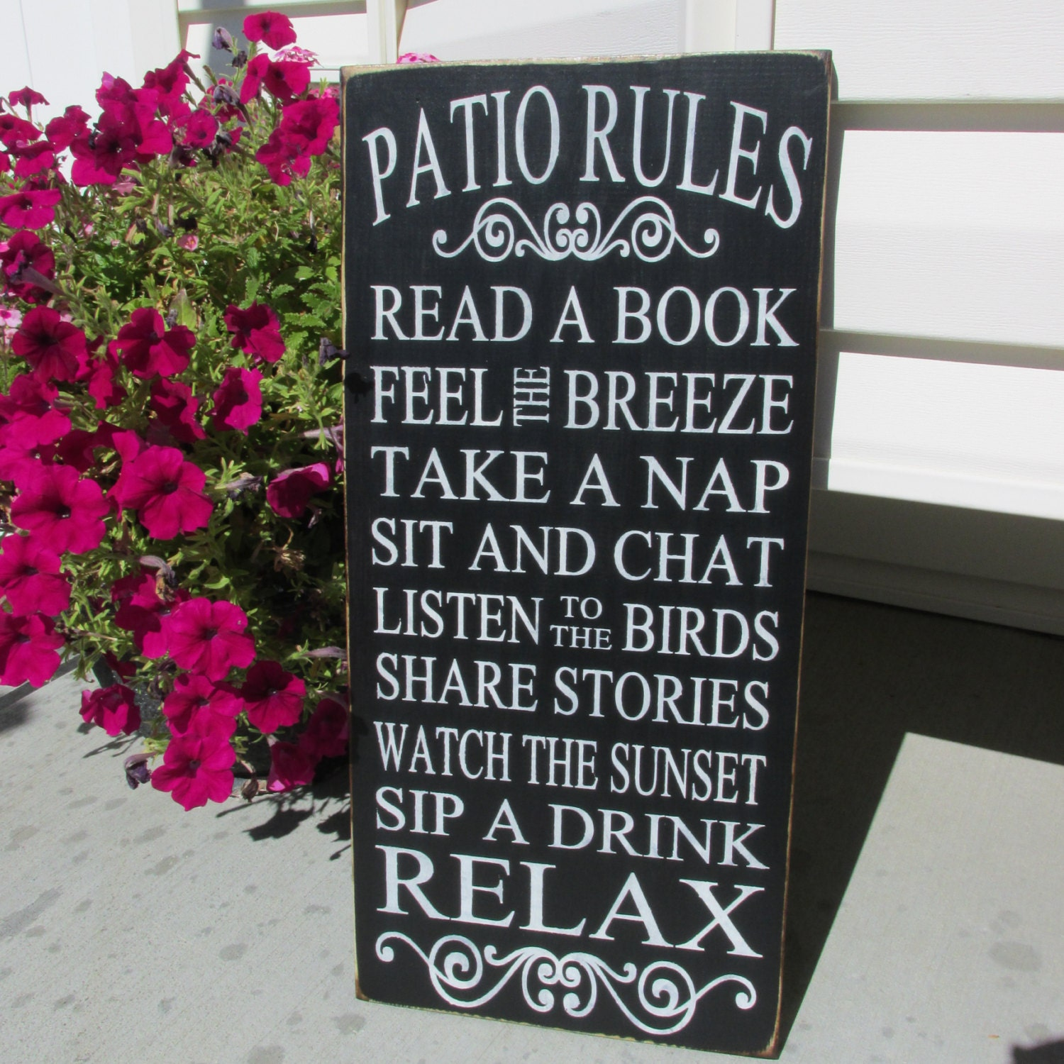 Porch rules signpatio christmas gift outdoor sign by jcwshop for Outdoor decorative signs