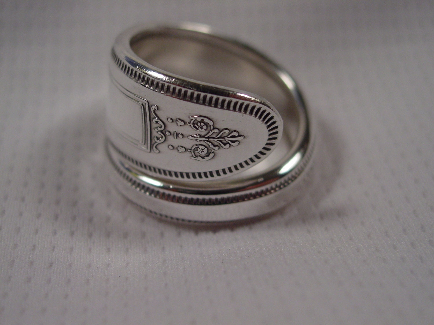 a spoon rings plus size 10 hippie ring wrapped by