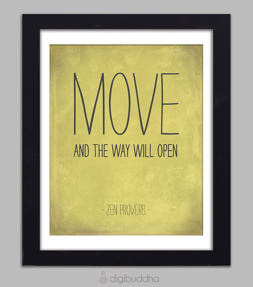 zen proverb quote inspirational art print by