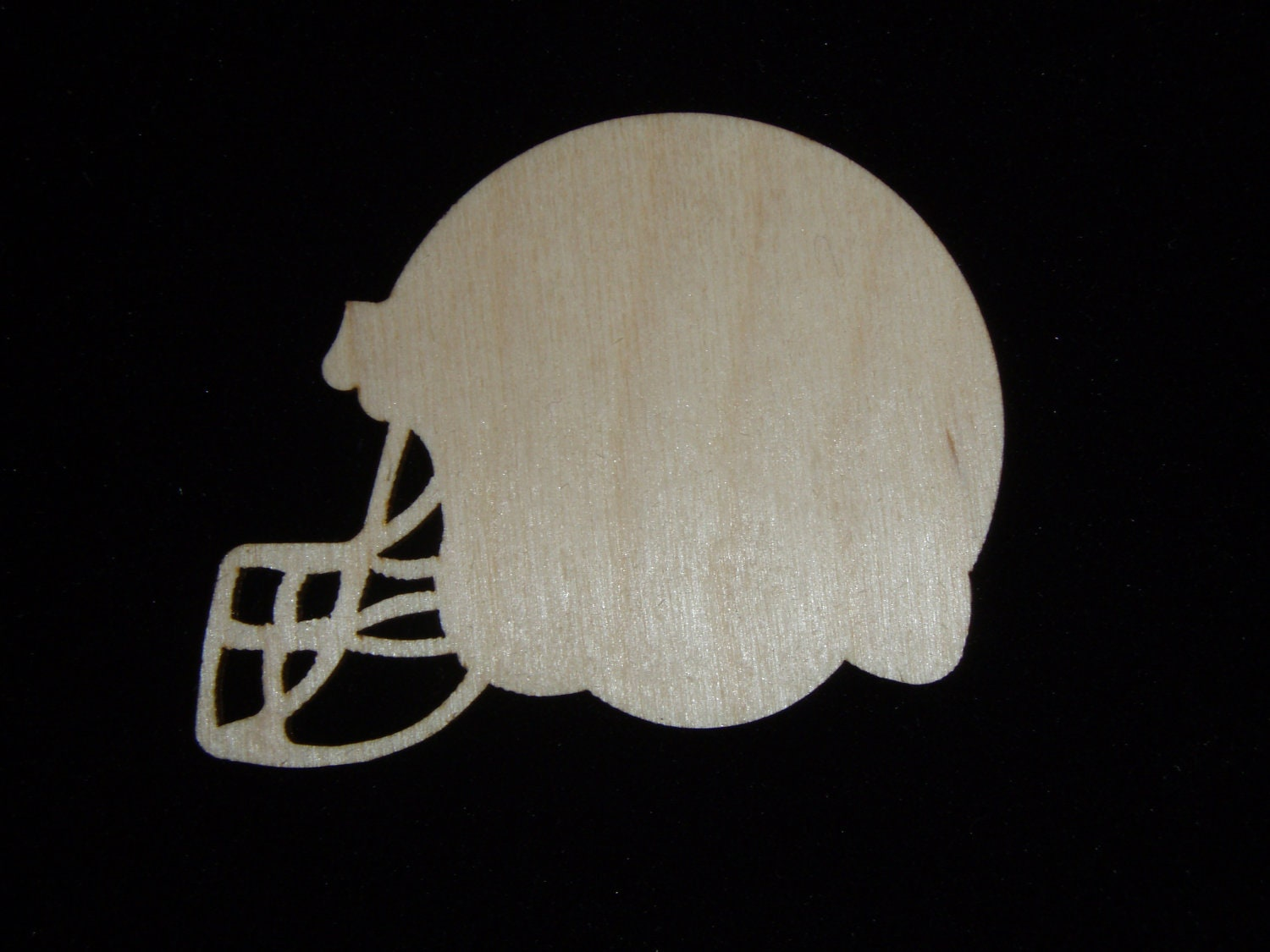 Football Helmet Wood Cut Out Unfinished By Artisticcraftsupply
