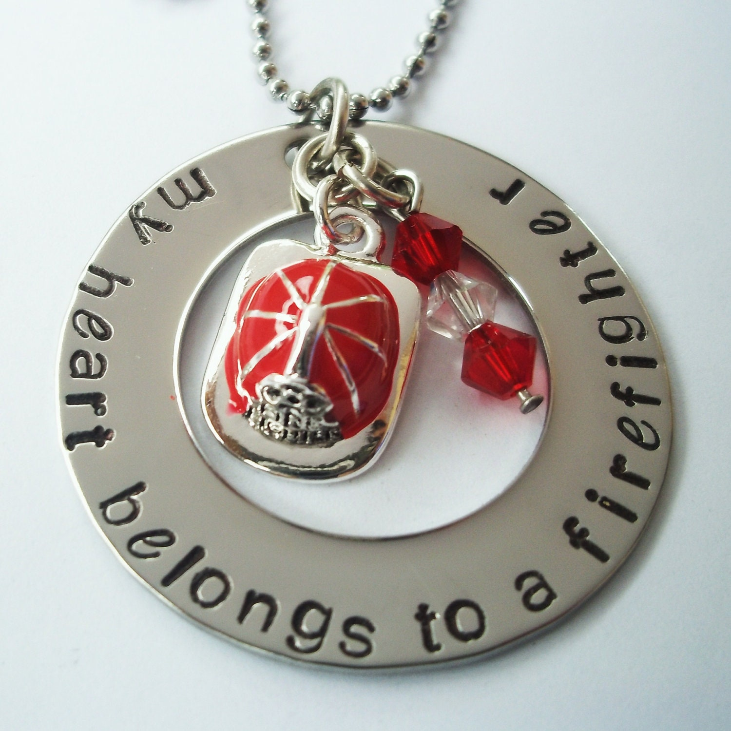 Firefighter Necklace on Necklace Firefighter My Heart Belongs To A Firefighter Necklace