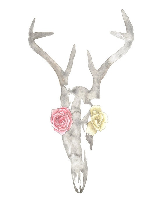in bloom - 8.5 x 11 print of an original watercolor painting