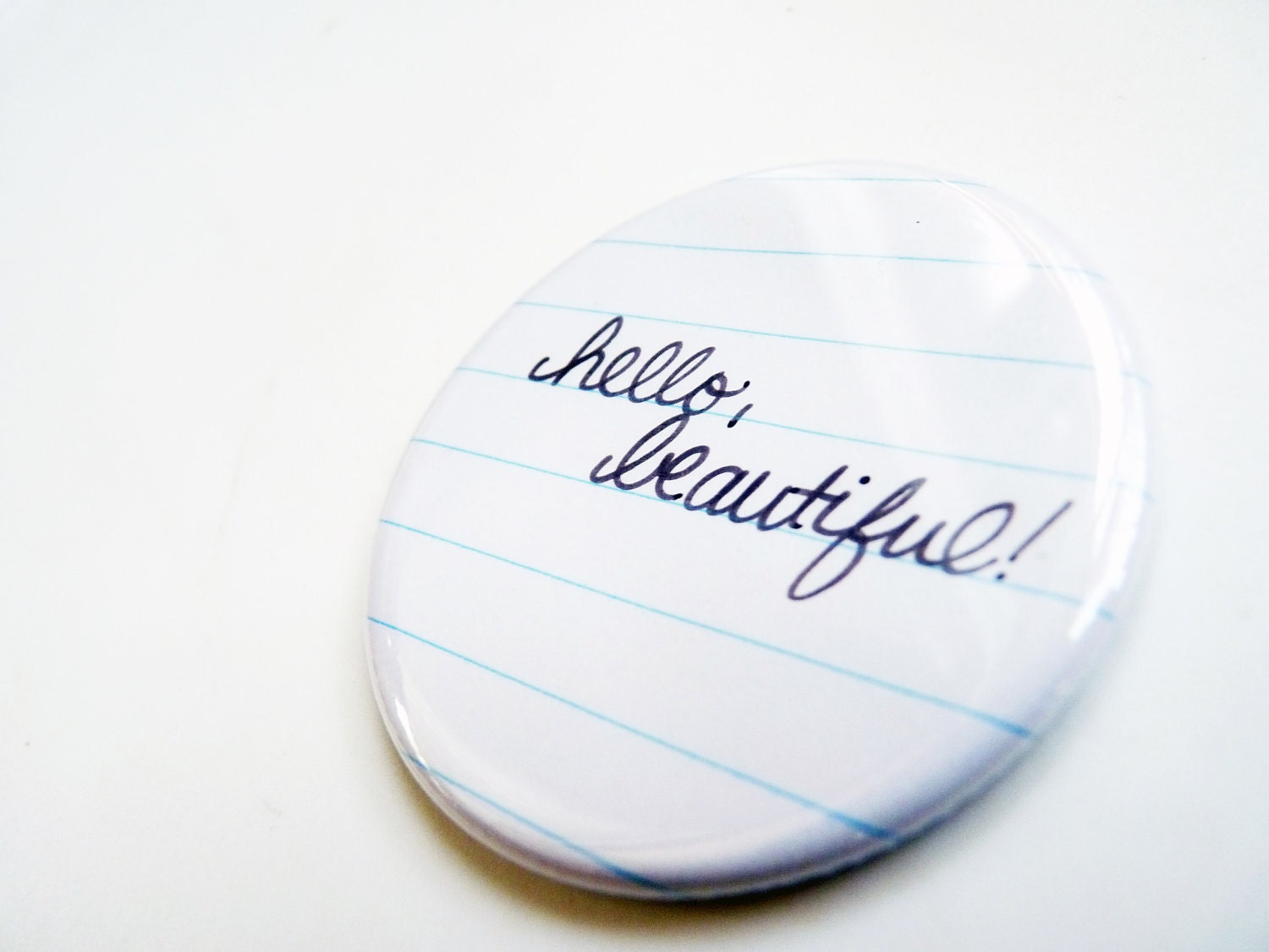 Hello Beautiful - Pocket Mirror - Great for Valentine's Day, Bridesmaid Gift, Under 5 Gift, Party Favors