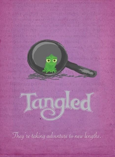 Disney's TANGLED Original Poster Design