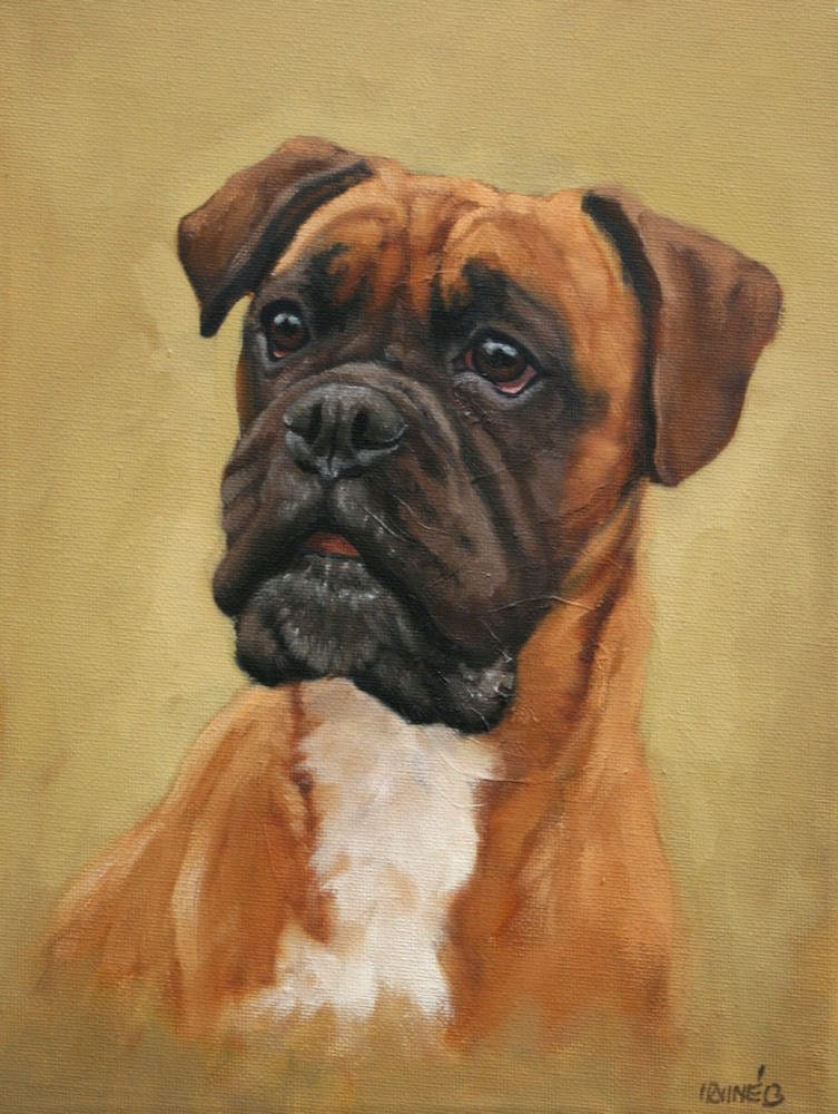 boxer dog painting