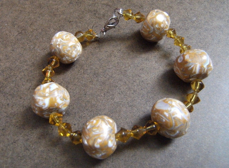 Caramel Sweet Beaded bracelet