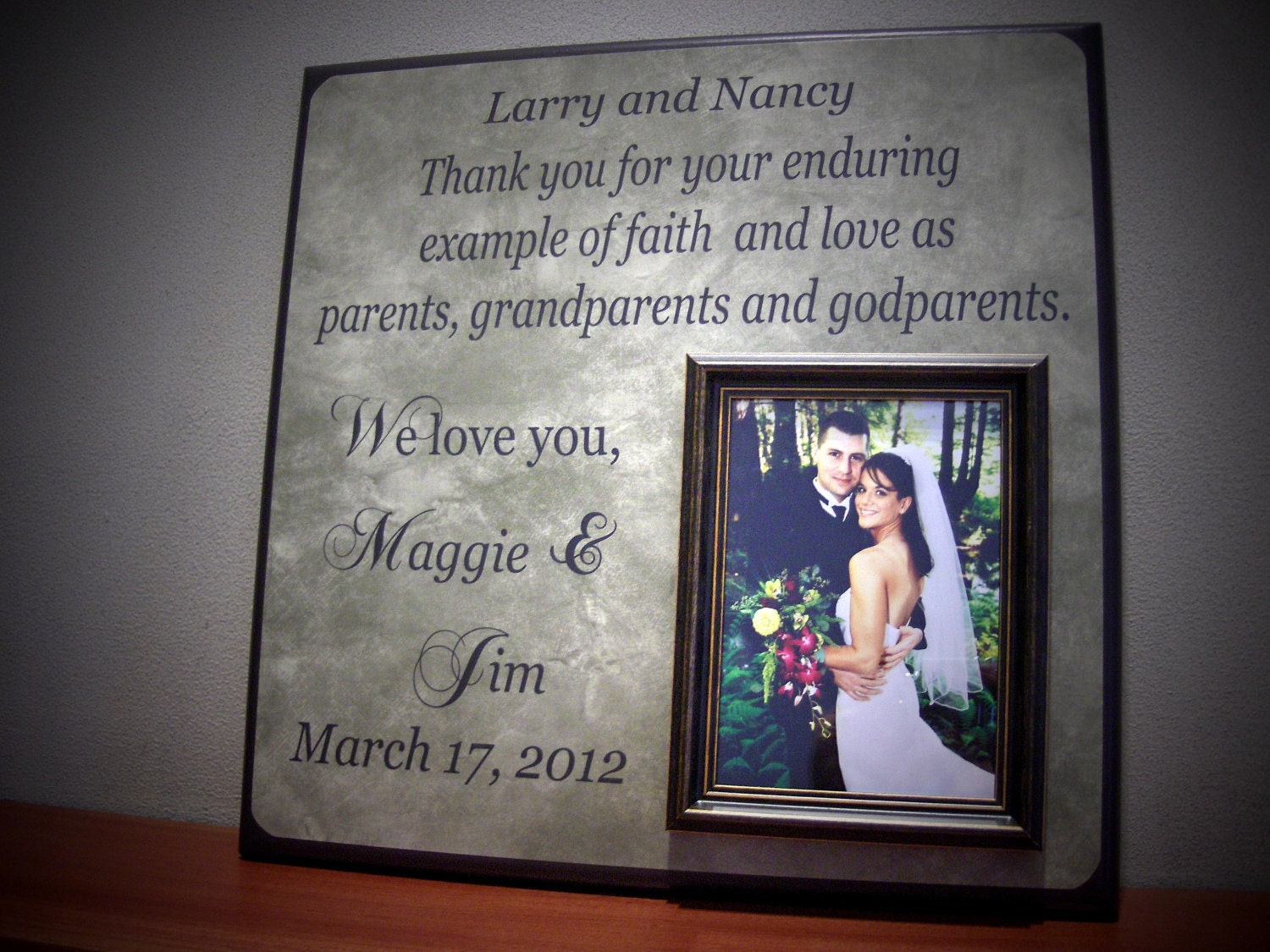 Wedding Gifts For Parents And Grandparents : Custom Godparent Frame, Wedding Gift, Parent, Godparents, Grandparents ...