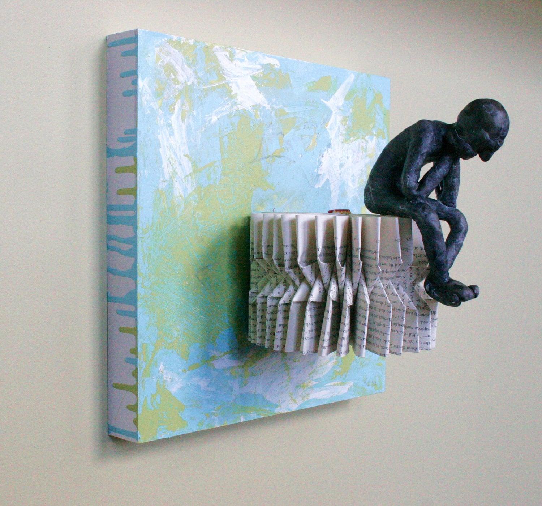 Мыслитель на горизонтальной Cog (Оригинал скульптуры)