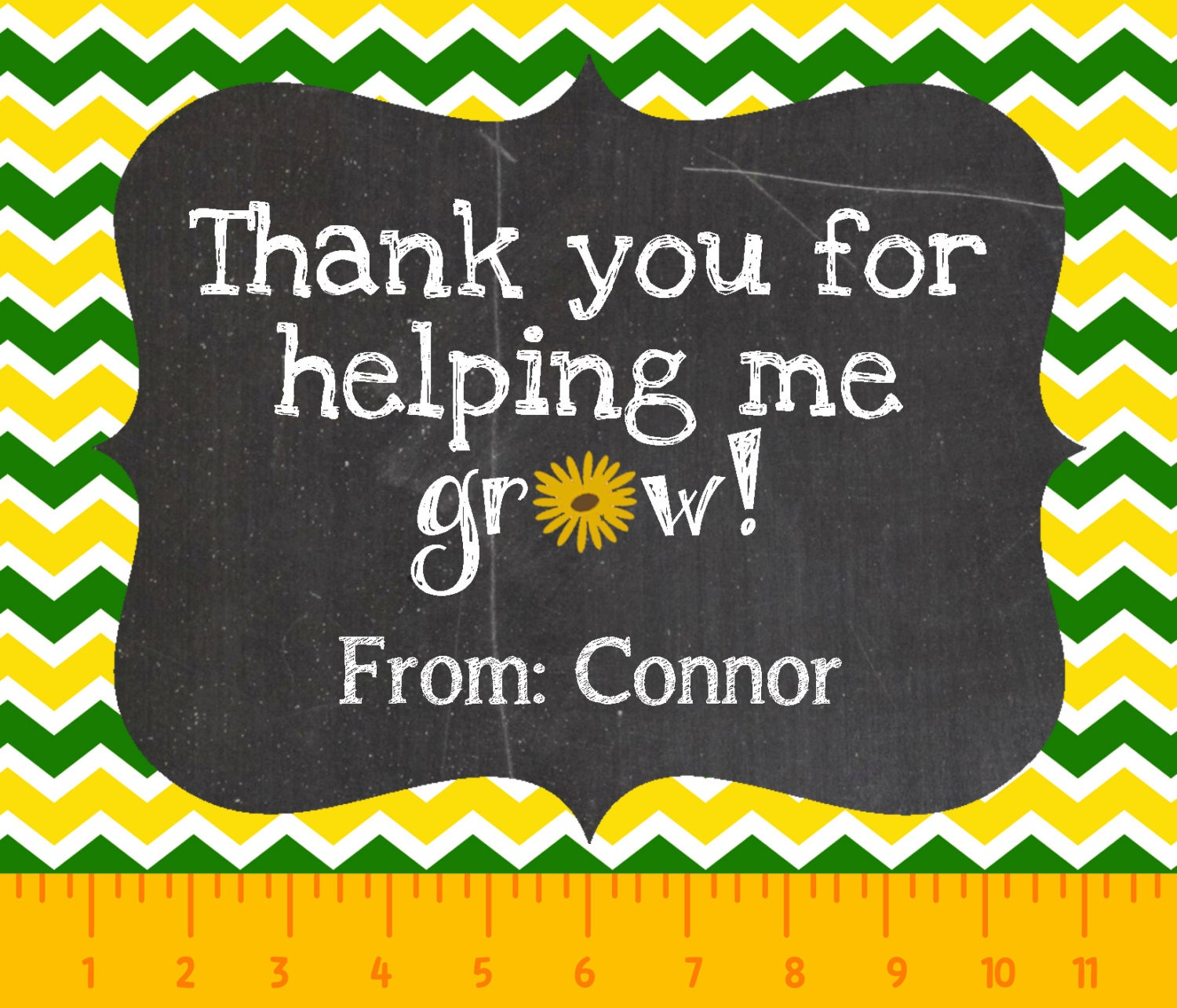 Versatile image with thank you for helping me grow printable