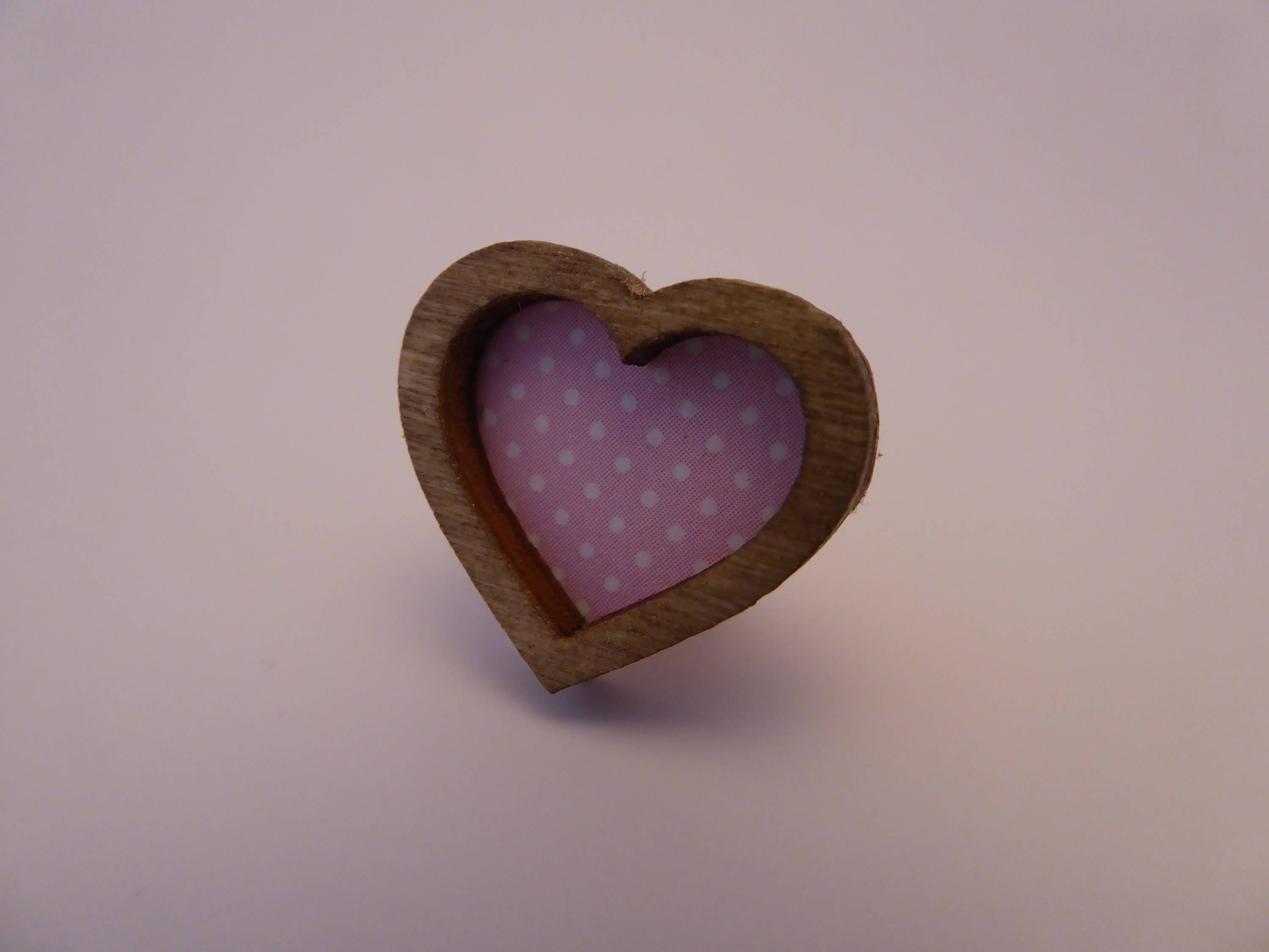 Tiny heart shaped picture frame for the modern 112th scale dolls house  pink  shabby chic