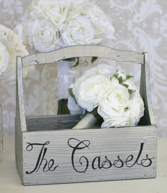 Items Similar To Personalized Bridal Bouquet Holder Vase Custom Wedding Gift Item P10236 On Etsy
