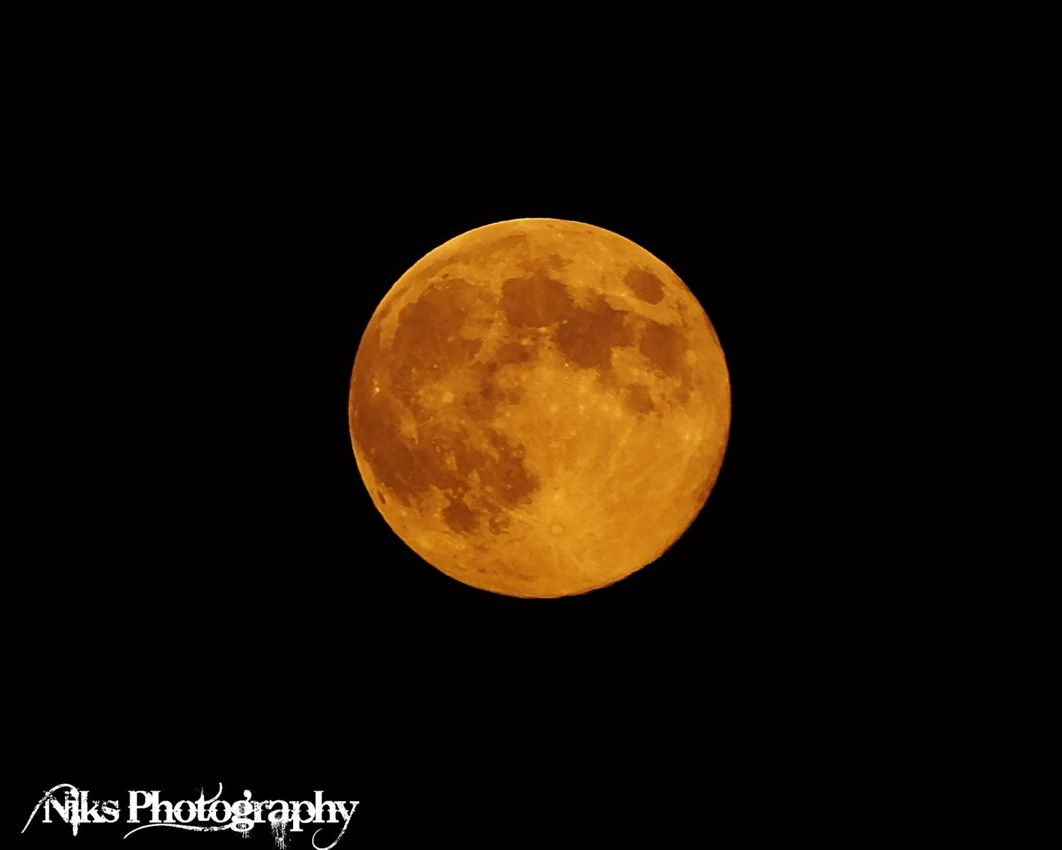 Harvest  Moon Halloween Photograph Night Skyscape Photo Orange Full Moon Lunar Picture Decor Digital Download File Instant - NiksPhotography