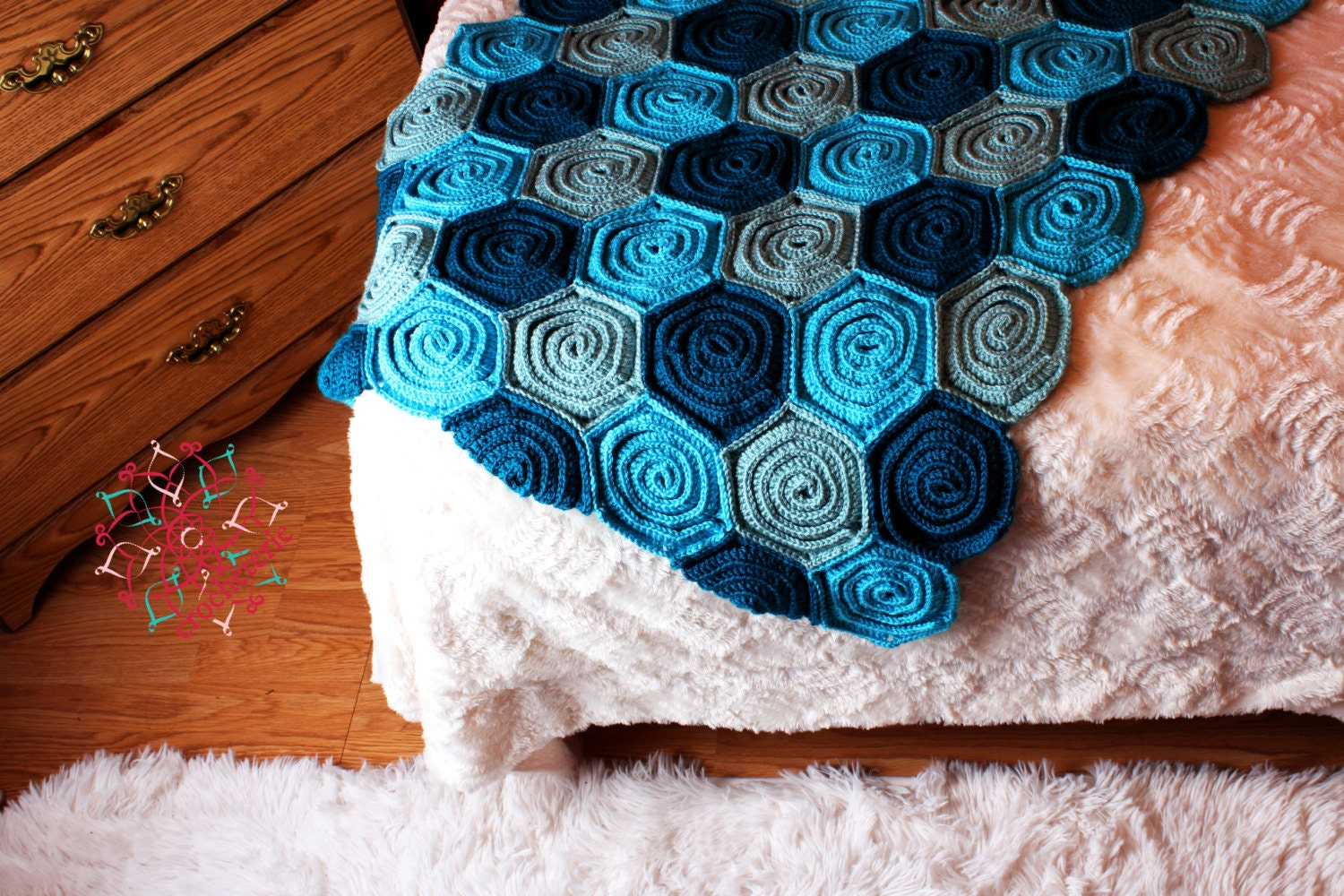 Free Crochet Pattern Rose Field : ROSE FIELD BLANKET CROCHET PATTERN ? Free Crochet Patterns