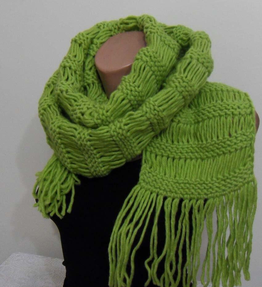 سبز روسری بلند اضافی