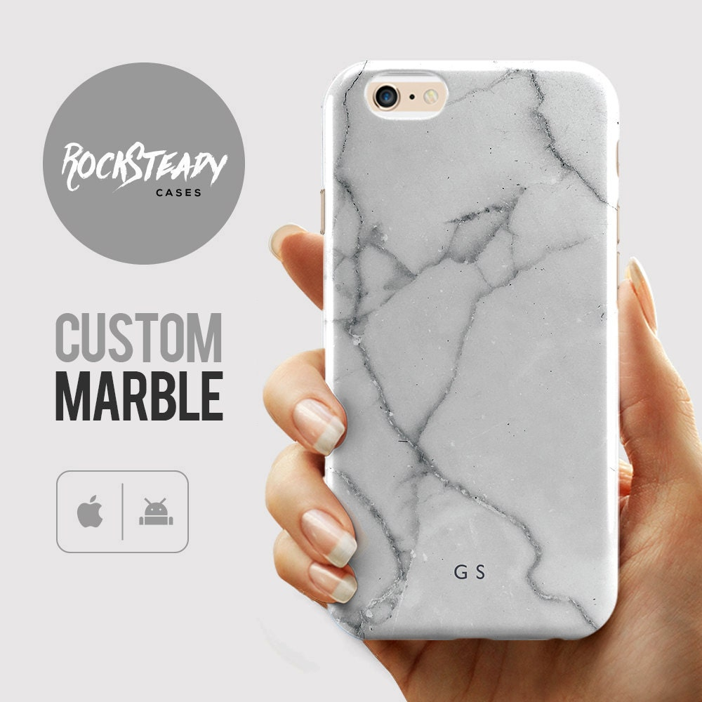 Custom Monogram Marble Phone case personalised iPhone 6s case 6 Plus 5C 5S SE case personalized Galaxy S6 S7 S5 cell phone cover UK