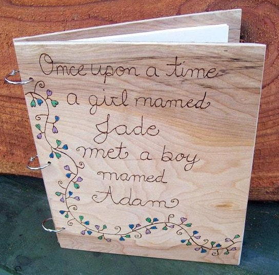 Personalized wedding Guest Book Scrap Book Photo Book