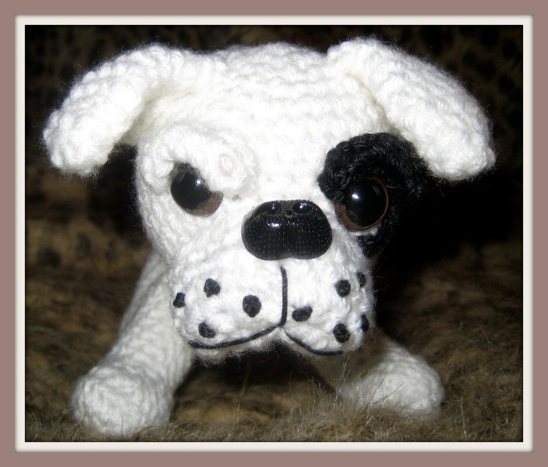 Amigurumi Bulldog Pattern : Crochet Pattern American Bulldog Amigurumi por ...