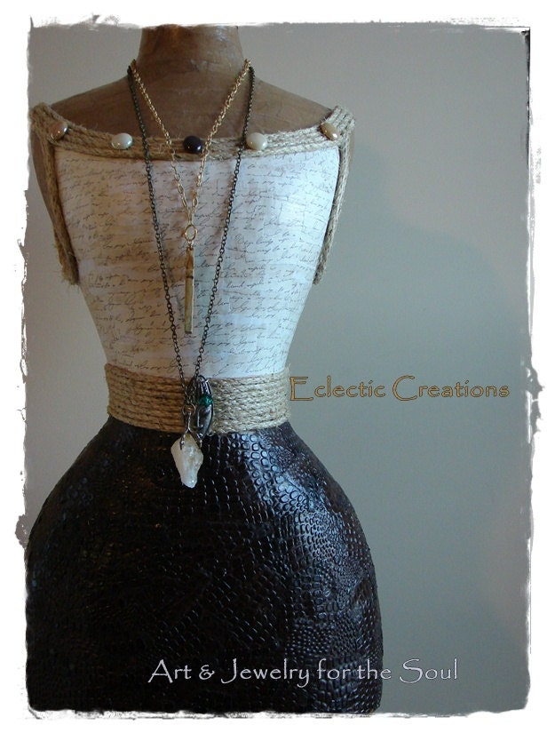 Nayla Custom Dress Form Paper Mache Mannequin