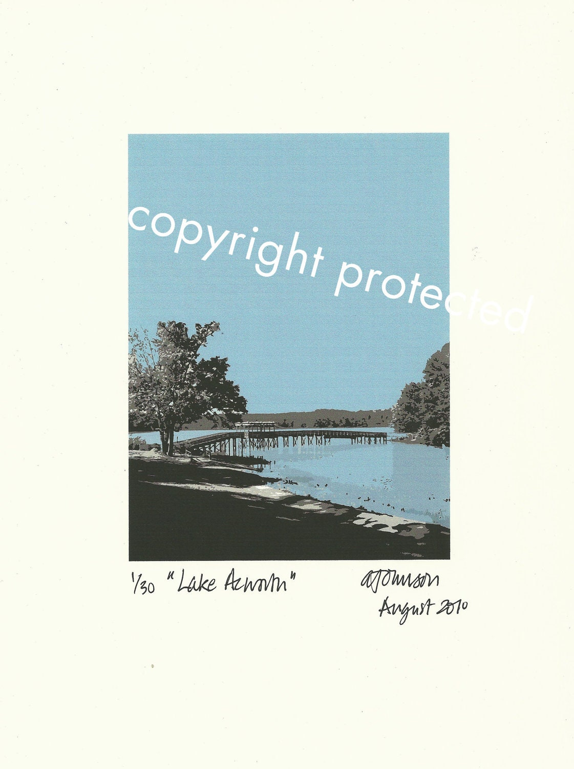 Limited Edition Print: LAKE ACWORTH, Georgia.