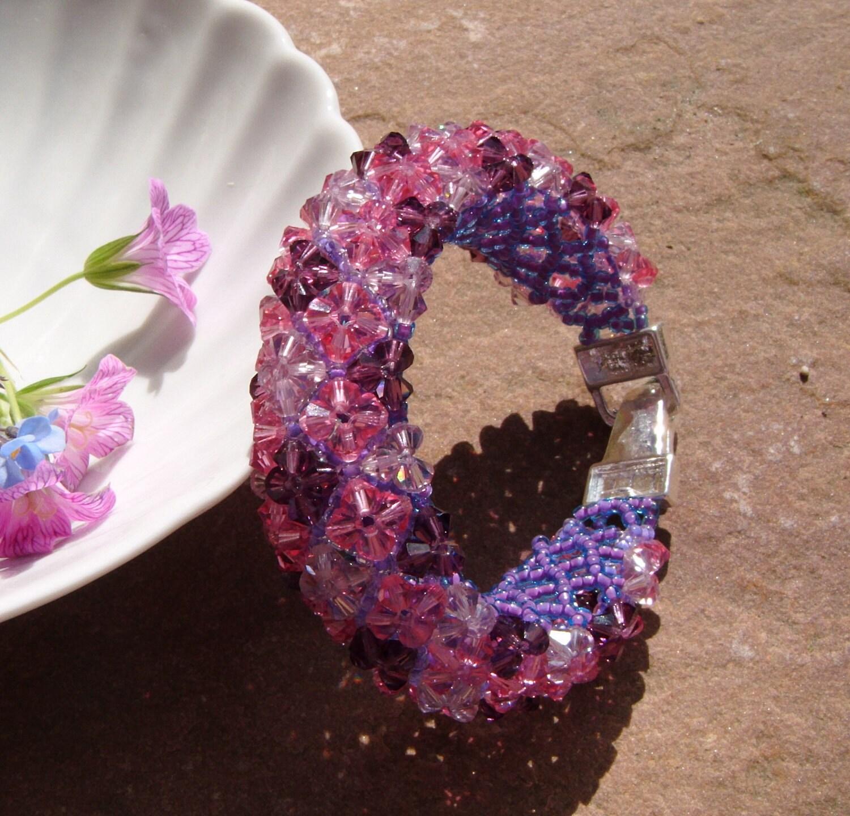 Amethyst Diamonds Swarovski Donut Bracelet