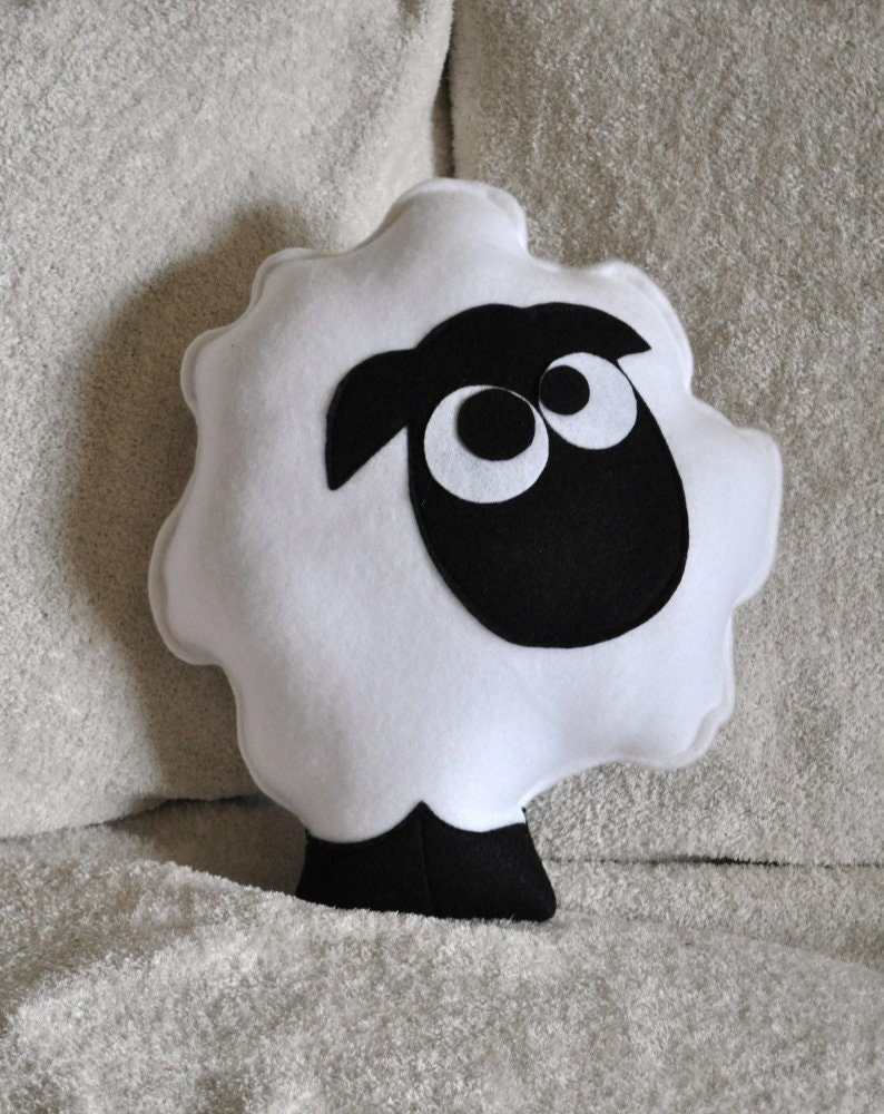 Sheep Pattern PDF -Count the Sheep Plush Pillow PDF Tutorial How to Make DIY