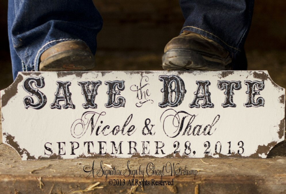 SAVE THE DATE Sign Engagement Photo Prop By