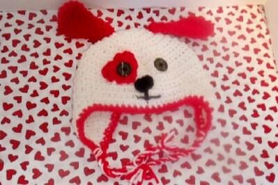 Valentine Puppy Earflap Hat 6-12 month