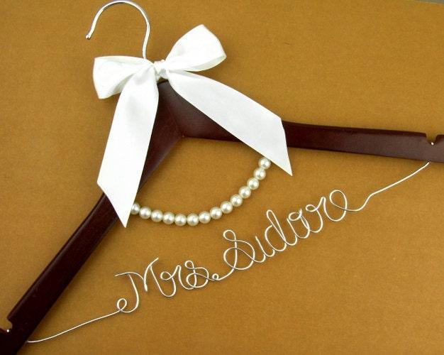 hanger personalized custom bridal hanger bridal hanger bride name