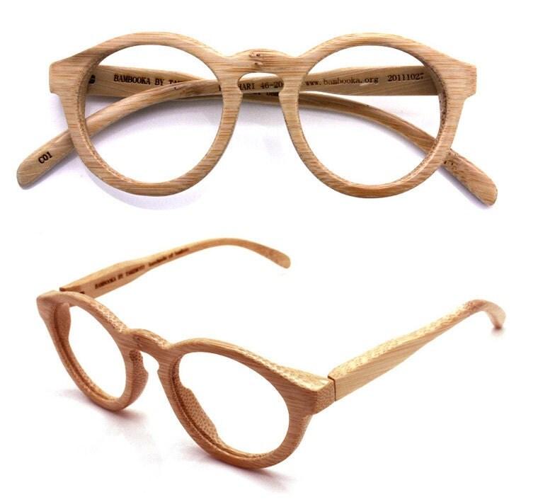 handmade vintage bamboo eyeglasses sunglasses by