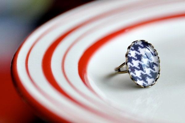 OOAK Upcycle Fabric Ring - DobleEle