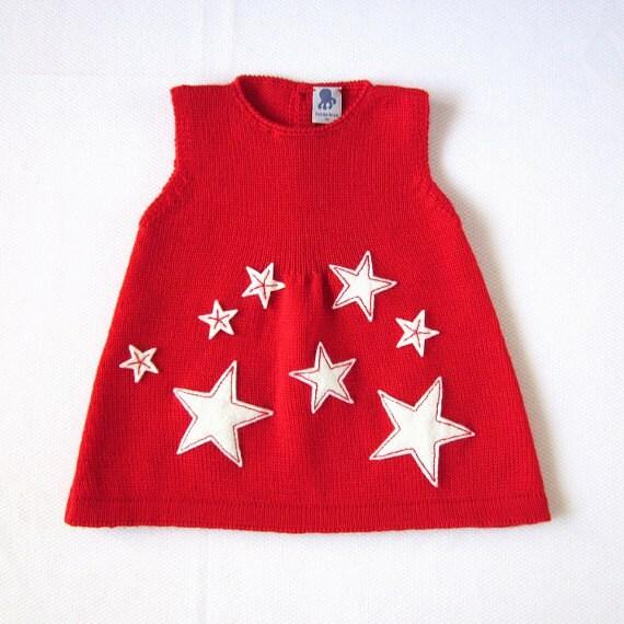 لباس بافتنی نوزاد با کش - coeur پر از ستاره