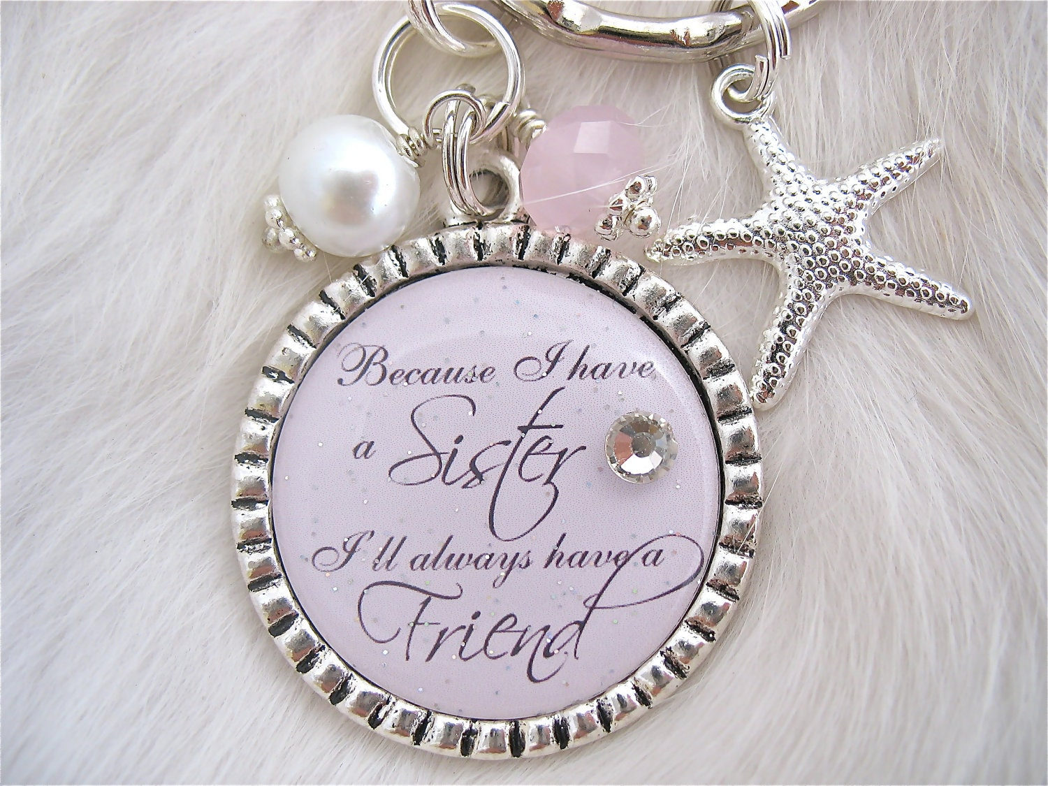 Perfect Wedding Gift For My Sister : SISTER Wedding QUOTE Bridal Jewelry Gift by MyBlueSnowflake
