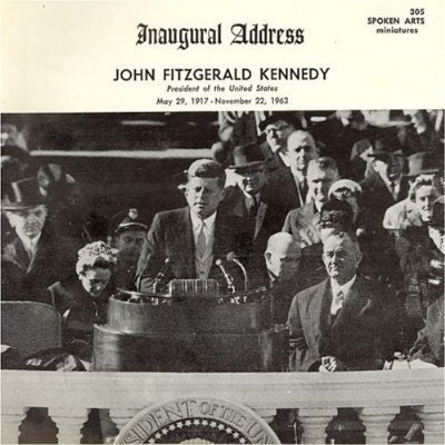 kennedys inaugural address Full text transcript and audio mp3 and video excerpt of john f kennedy's inaugural address.