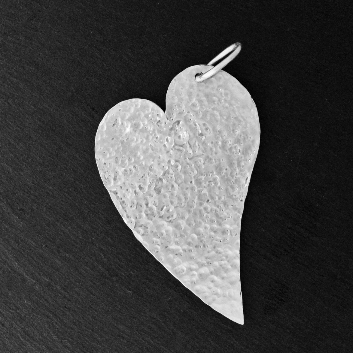 Elegant sterling halflong silver heart pendant available with silver chain necklace