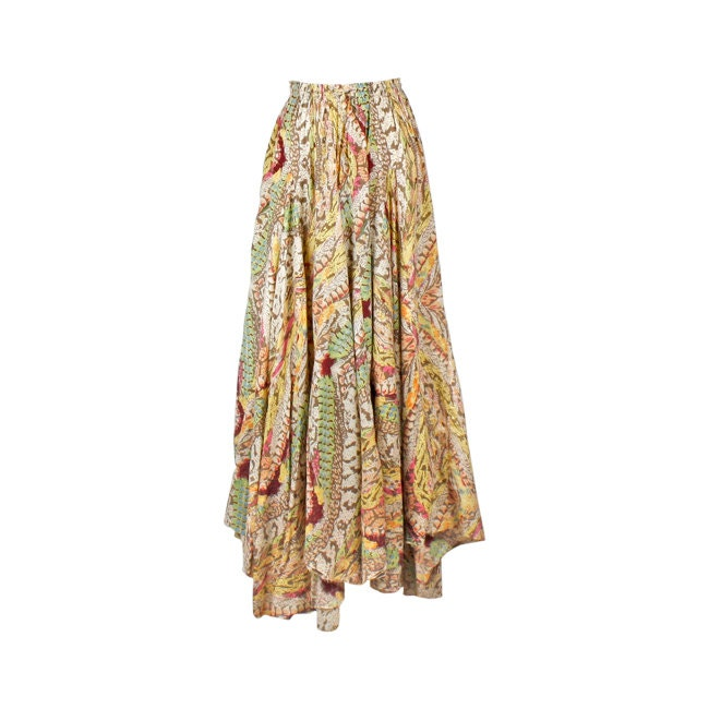items similar to bohemian maxi skirt skirt