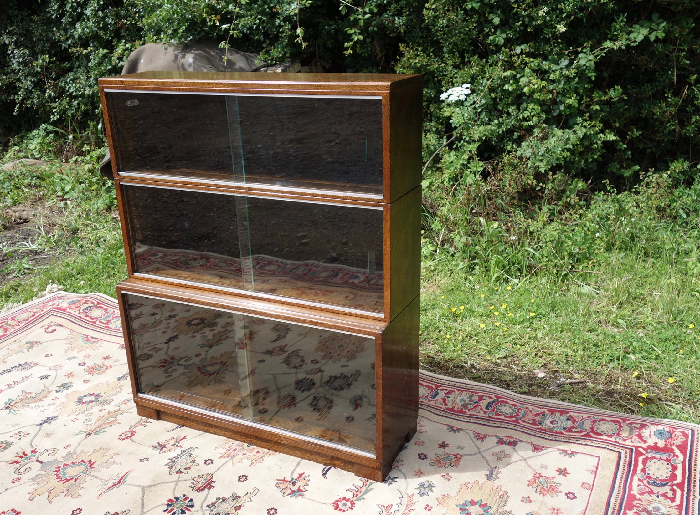 MidCentury Glazed Bookcase 1950s Library Bookcase Vintage Bookcase Sectional  Stacking Bookcase By Minty Of Oxford Library Specialists
