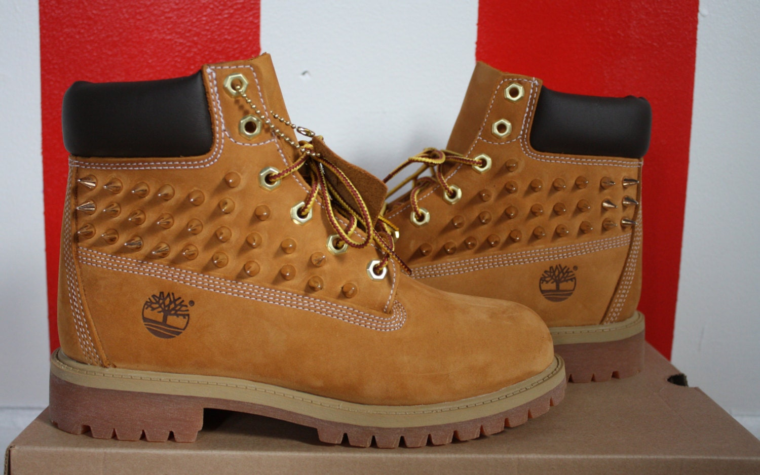 Women Timberland Boots with Spikes