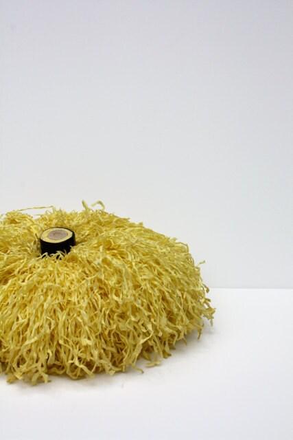 Vintage 1960 LEMON Yellow Pom Pom - aniandrose