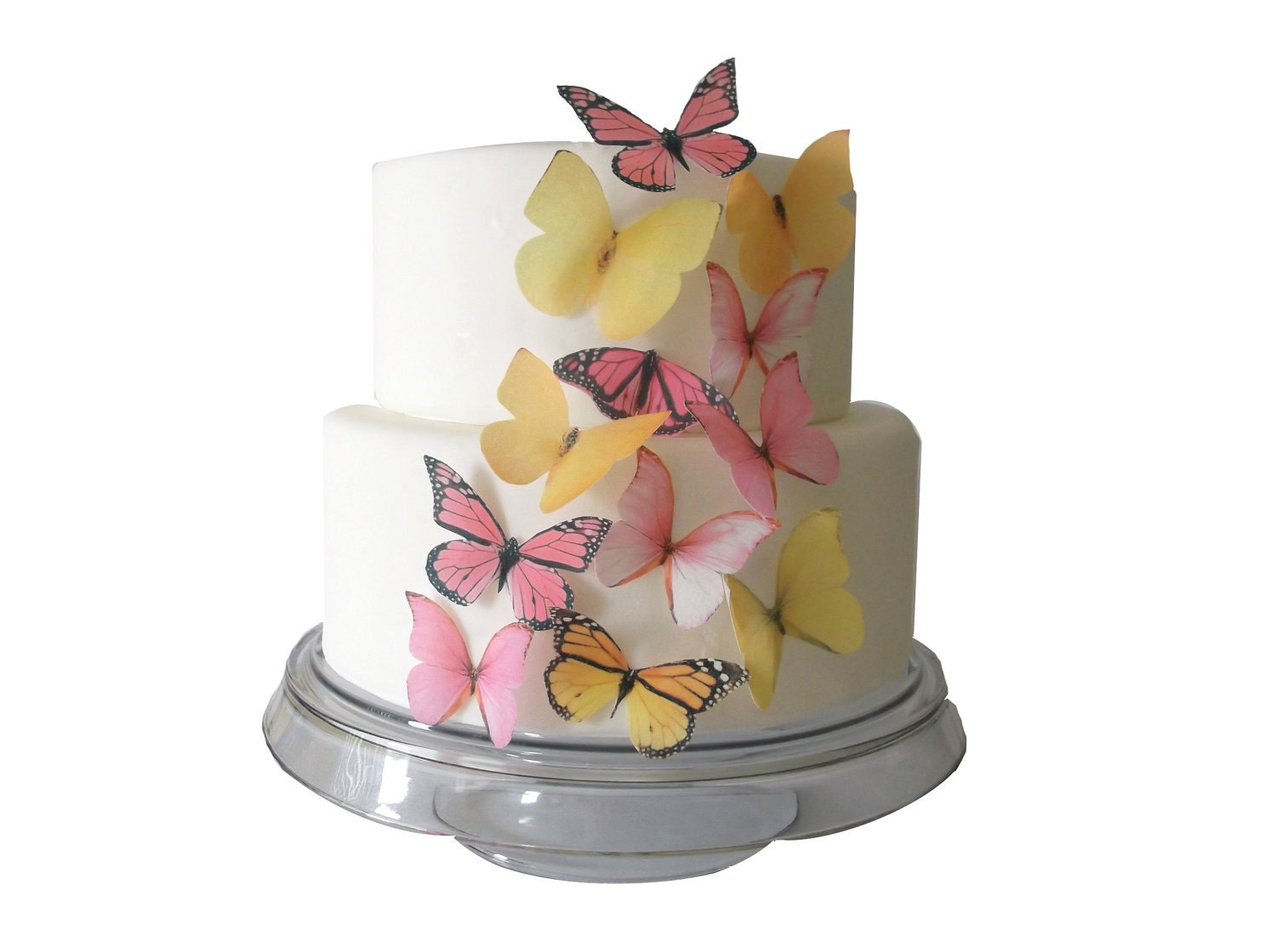 Easter Cake Edible Decorations : WAFER PAPER Edible Butterfly Cake Decorations - 12 Edible ...